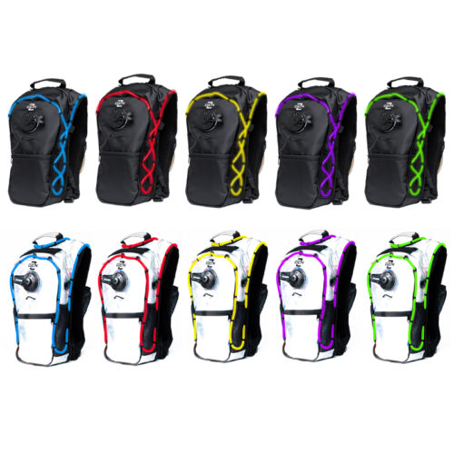 RaveRunner Hydration backpack with LED lights