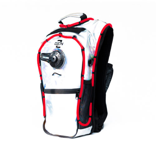 RaveRunner Hydration Holographic backpack with LED Lights holographic red