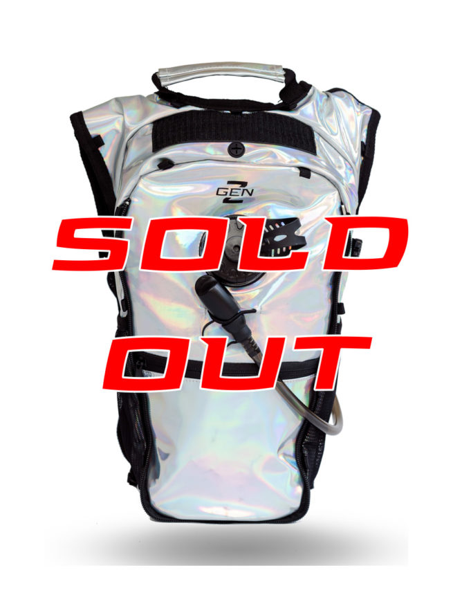 RaveRunner Hydration pack holographic front
