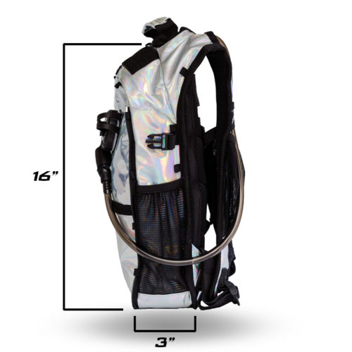 RaveRunner Hydration pack holographic side 3