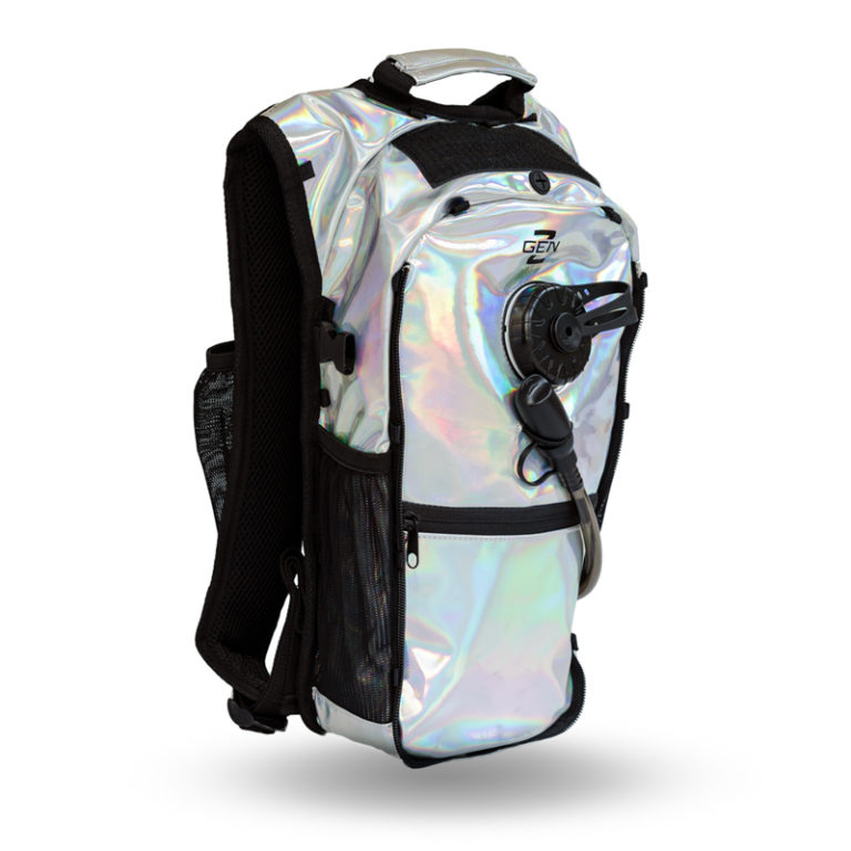 RaveRunner Hydration pack holographic side 5