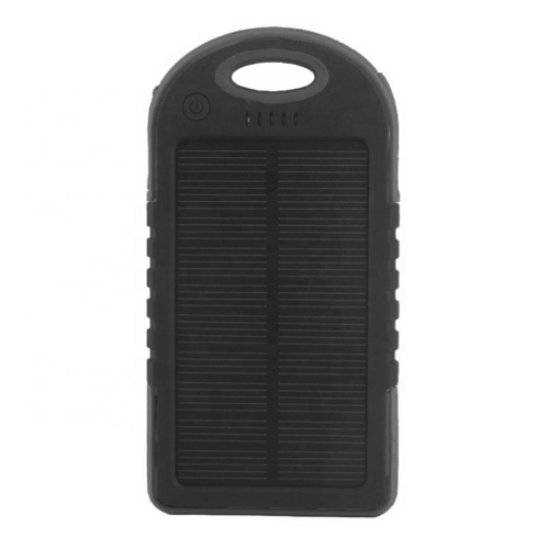 blue solar charger black