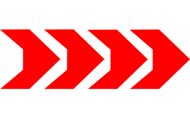 RaveRunner directional arrows in red