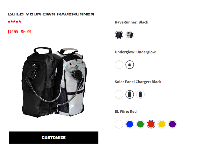 Build your own RaveRunner Anti Theft Hydration Pack