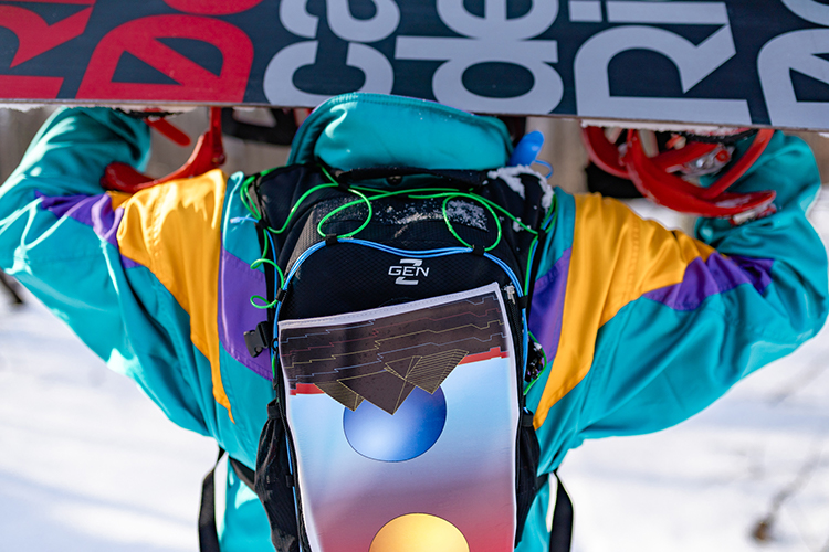 RaveRunner Hydration Pack used for snowboarding and carrying larger items